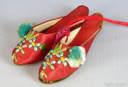 0J014 Régi mini szegedi papucs cipész mestermunka