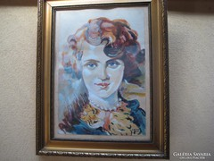 Női portré akvarel