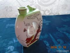 Sárkányos- Kutani moriage-vintage-különleges palack