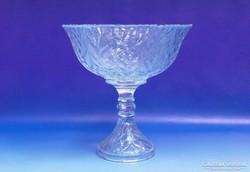 0J402 Üveg talpas kínáló gyümölcskínáló tál