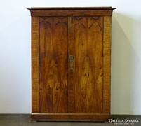 0J461 Antik Biedermeier kétajtós ruhásszekrény
