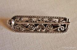 Csodás antik magyar  ezüst  bross
