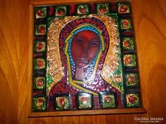 Lőrincz Vitus tűzzománc kép - Madonna
