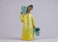 0J543 Jelzett Bely Z. kerámia figura 16 cm