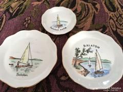 Balaton, porcelán tálkák