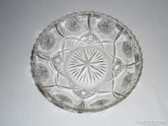Üveg kínáló tál - cukorkás tál - 20 cm átmérő