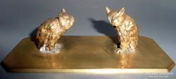 Wiener bronz bagoly pár