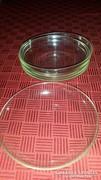 Üveg süteményes tányérok