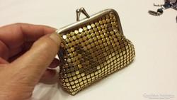 Régi aranyozott fémláncos pénztárca