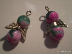 Rózsaszin-zöld  ACHÁT két angyalka