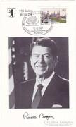 Emlék levelezőlap R.Reagan látogatása a 750 éves Berlinben