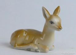 0K053 Régi Kispesti porcelán őzike