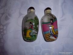 Kézzel festett parfűmös üvegcsék(2 db)
