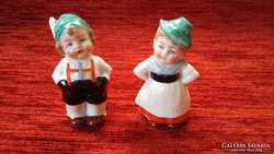 Wagner & Apel porcelán Tiroli népviseletes pár