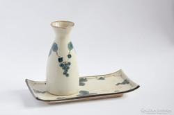 Modern művészi kerámia készlet váza és tálca