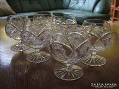 Kristály konyakos pohár készlet (6 db-os)