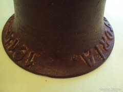 I.Világháborús relikvia(vasmozsár)-Victoria felírat és dátum