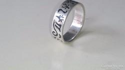 Ezüst karikagyűrű kelta mintákkal