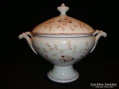 Antik porcelán leveses tál