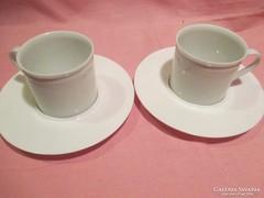 2 db Tirschenreuth porcelán kávés csésze tányérral A022