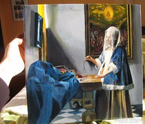 Jan Vermeer van Delft: Nő mérleggel 75000 Ft