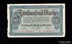 Ritka 5000 Márka 1923