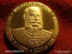 1888, I. VILMOS, ARANYOZOTT, NÉMET EMLÉKÉREM!