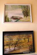 2 db festmény- kortárs, kb.50 x 38
