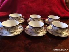 Zsolnay főnix teáscsésze+alj - 6 db