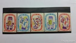 Gyufacímke. 1960. Gyermek és ifjúsági gyufacímke és szalvéta