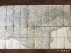 1838-as Lombardia- Venezia térkép