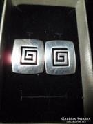 Ezüst fülbevaló /görög minta