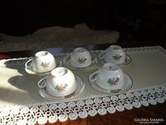 Zsolnay  porcelán teás csésze  alátéttel