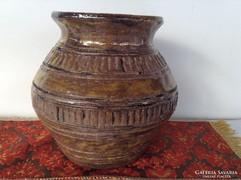 Zsűrizett,jelzett iparművész kerámia váza