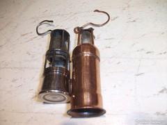 Antik kis bányász lámpa mdíszek eladók!