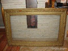 Nagyméretű dús mintás antik képkeret falc 59x103 cm