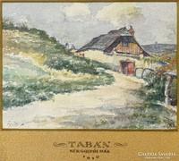 0C141 Tábor János akvarell 1910-ből