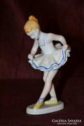 Hollóházi balerina  02  ( DBZ0065 )