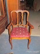 Antik Breton karfás szék