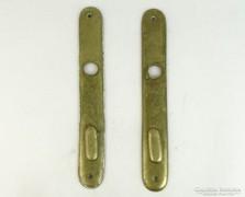 0K647 Antik réz ajtócím pár