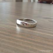 Ezüst gyűrű csiszolt kővel