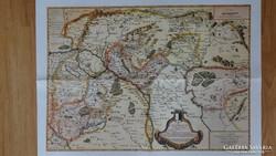 Térkép 1664-ből . Carte de La HUNGRIE a l'Autriche dedíe'e