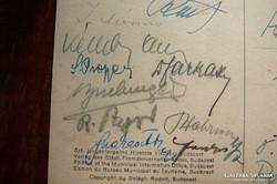 Szocdem kongresszus 1930 Budapest- eredeti aláírásokkal