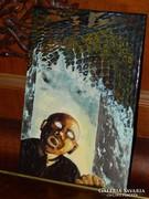Brugós Zenóbia  Nagykárolyi grafkusművész tűzzománc falikép