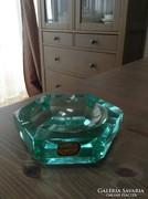 Régi Bohémia Cseh kristály üveg hamutartó