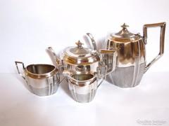 Csodás angol fazonú ezüstözött teás, kávés szett.