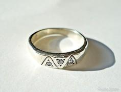 3 köves ezüst gyűrű