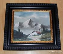 Alpesi tájkép Mayer jelzéssel