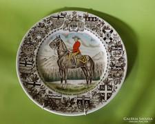 Királyi lovas rendőrség  tányér Burslem Woods England