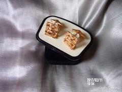 Aranyozott mandzsettagomb